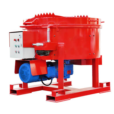 Refractory pan mixer machine