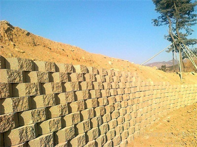 retaining wall made by foam concrete