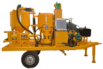 plunger type diesel engine grout plant