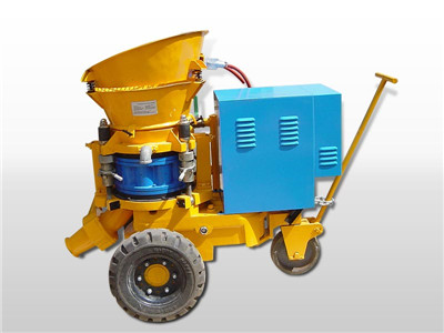 electric motor driven shotcrete machine