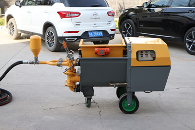 Mortar plastering machine