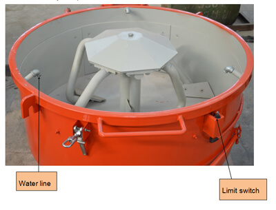 refractory pan mixer for steel plant