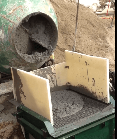Conveying concrete shotcreting project