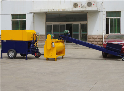 Cement foaming machine cast- in- place