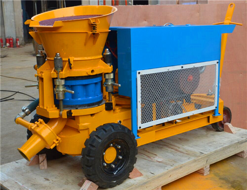 dry shotcrete machine with diesel engine