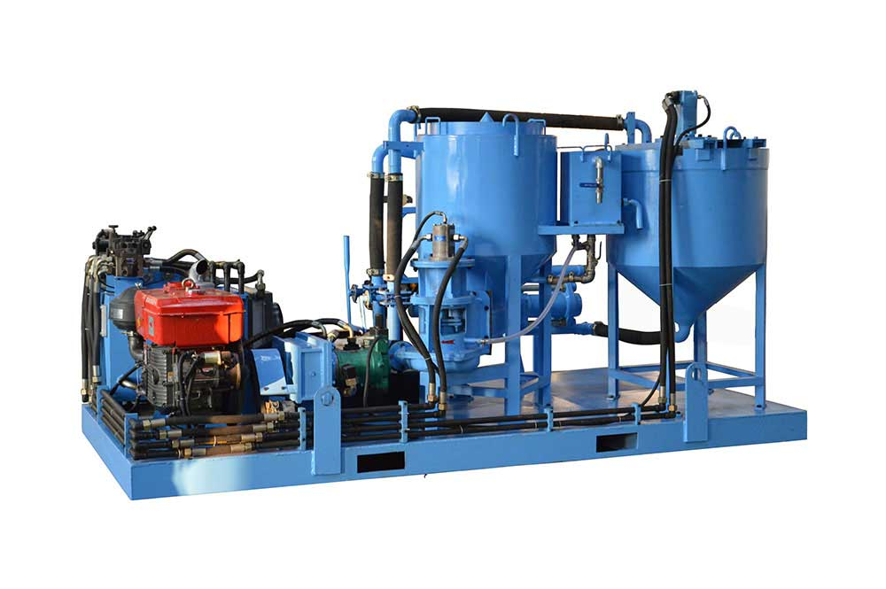 full hydraulic grout plant