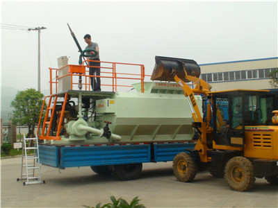 Hydroseeding machine for landscape project