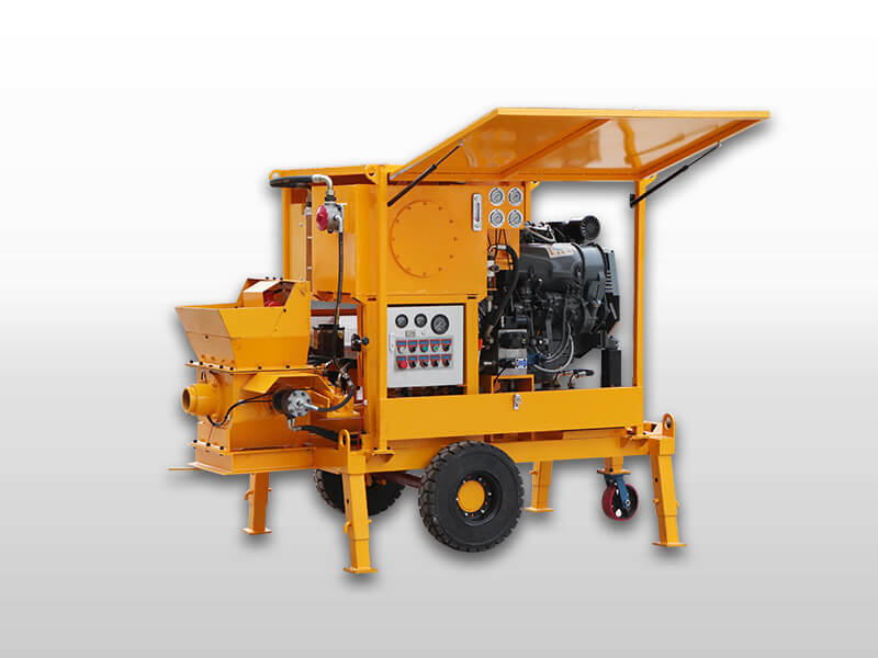 concrete pump with diesel motor