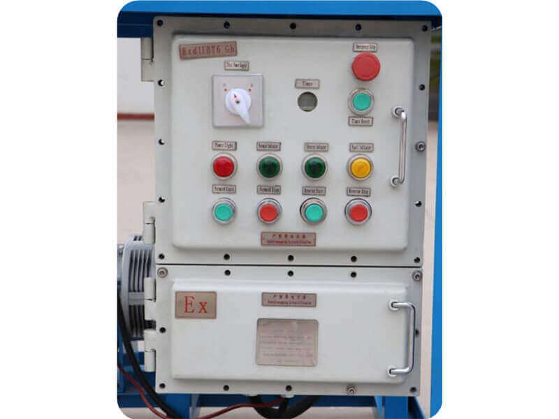Explosion proof electric control box for option