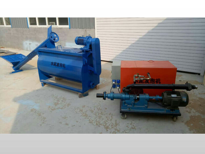 foam cement machine for roof construction