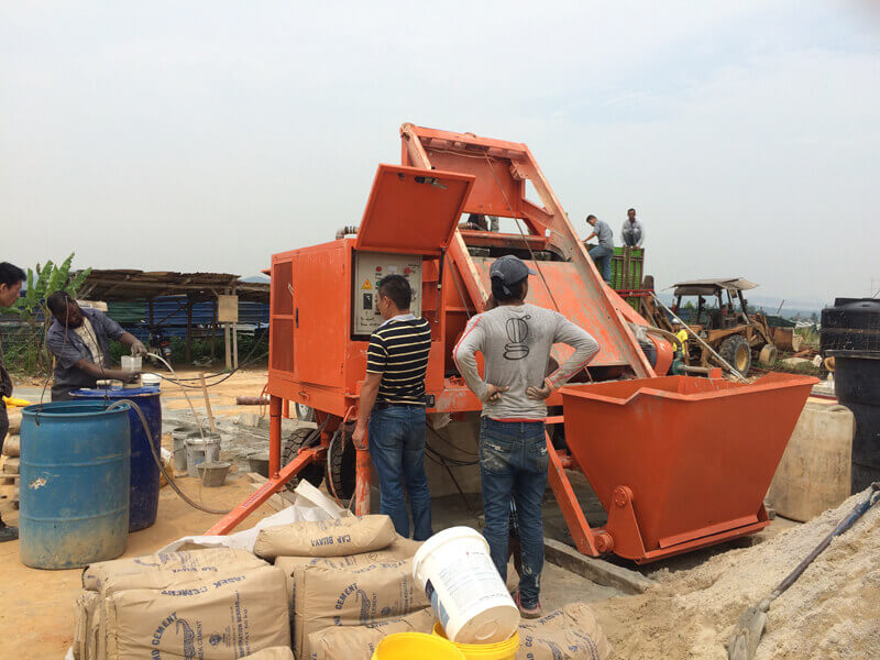 cellular lightweight foam concrete machine