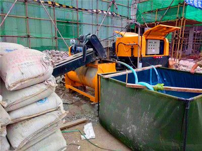 Foamed concrete machine application