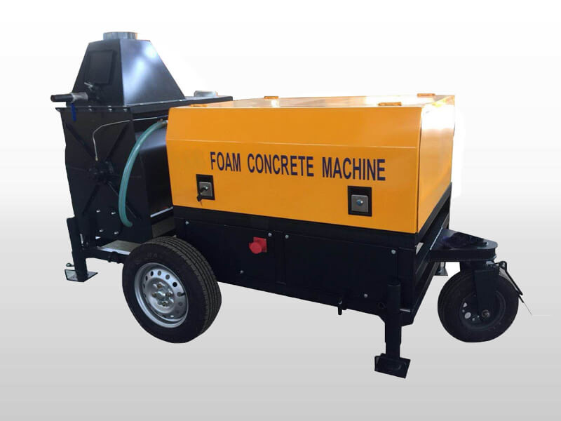 Small portable foam concrete machine
