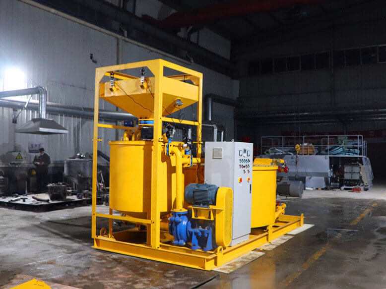 grouting unit for filling