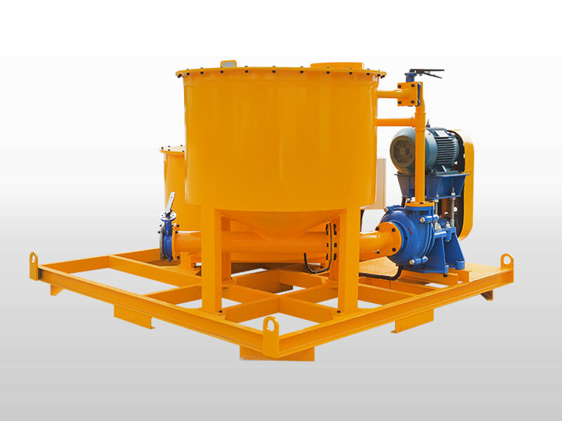 colloidal grout mixer and agitator