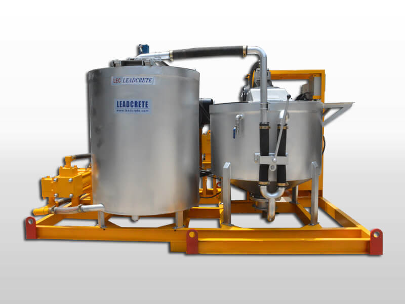 diesel grout mixer and pump