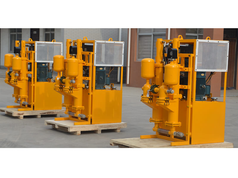 Double plunger hydraulic grout pump factory