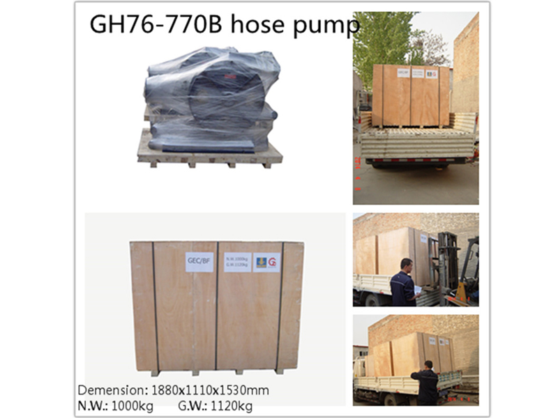 Hose pump transportation