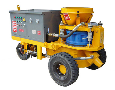 wet mix electric shotcrete machine