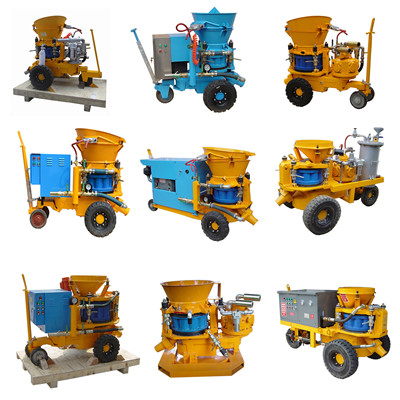 Shotcrete machine for swimming pool