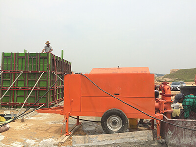 China foam concrete pump