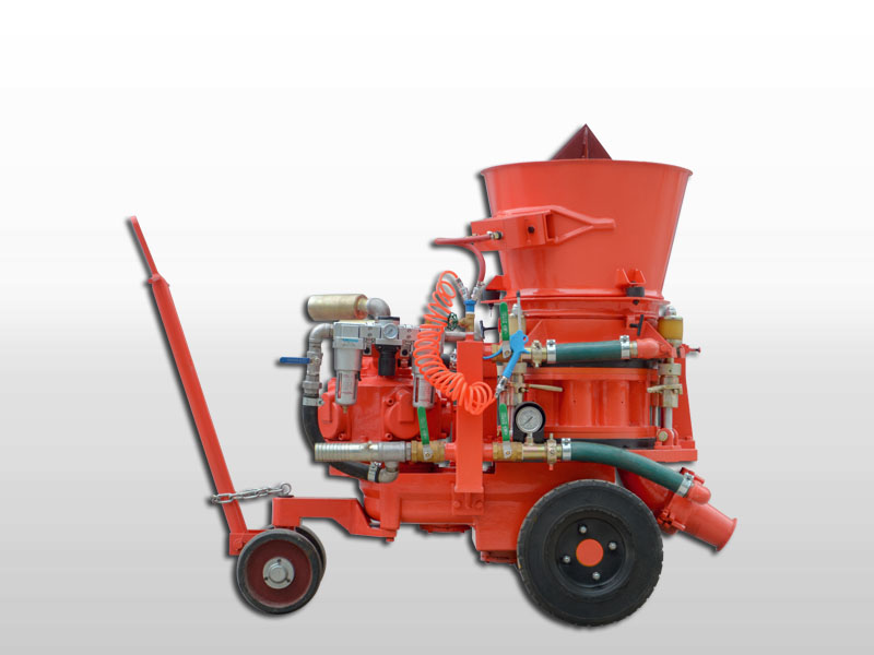 refractory gunning machine for cement factory