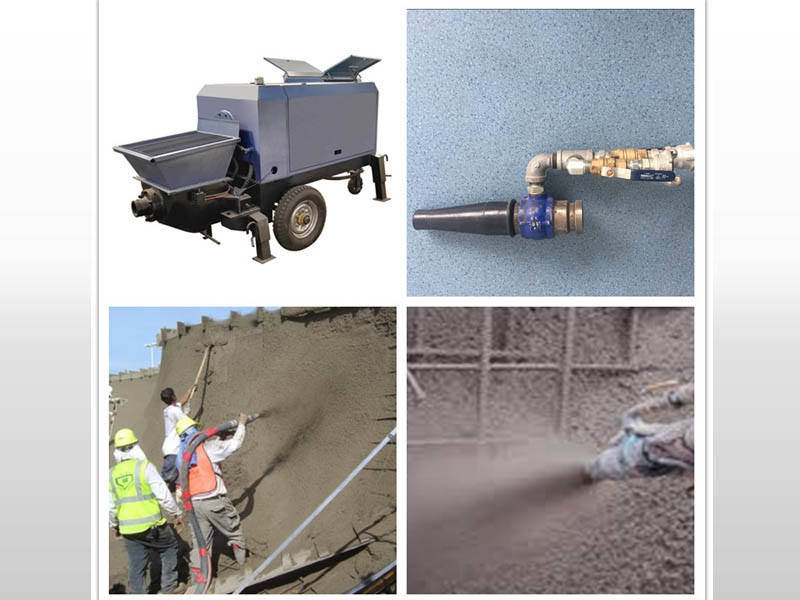 wet mix shotcrete machine application