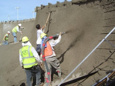 wet shotcrete concrete pump application